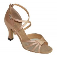 Light Tan Satin and Mesh-160107