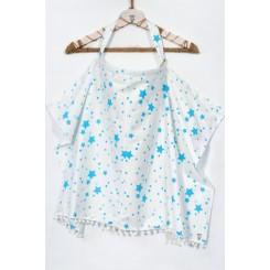Ποδιά κάλυψης θηλασμού  Baby Blue Stars