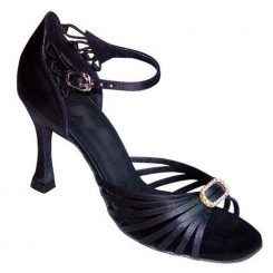 Black Satin with Strass-167102
