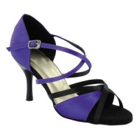 Purplish Blue/Black Satin-174006