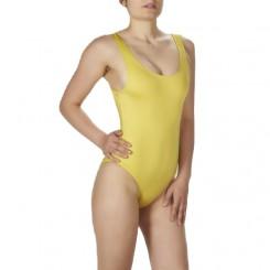 Mαγιό λύκρα γυναικείο κίτρινο