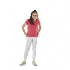 Παιδικό κολάν λύκρα γυαλιστερό Λευκό