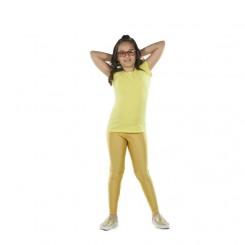 Παιδικό κολάν λύκρα γυαλιστερό Χρυσό